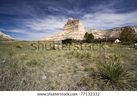 Jackson Butte and the Oregon Trail - seen in Nebraska.