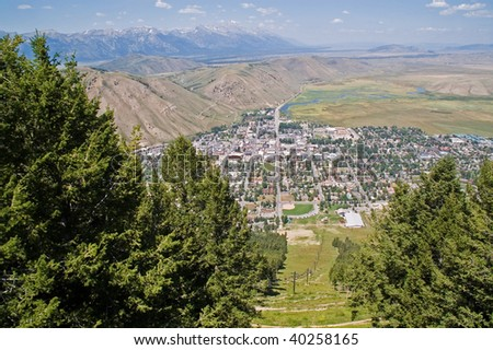 Jackson Hole, a view from the heights of the ski lift