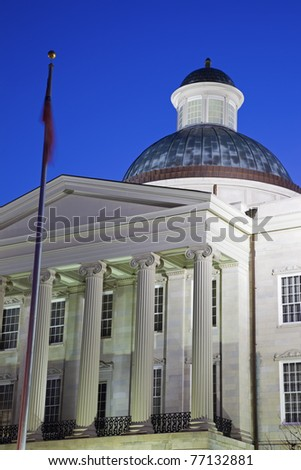 Jackson, Mississippi - Old State Capitol Building night time