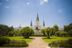 Jackson Square and Saint Louis Cathedral, New Orleans