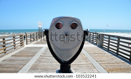Jacksonville Beach Florida fishing pier is a quarter of a mile long.