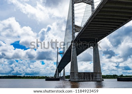 Jacksonville Dames Point bridge & St. Johns river