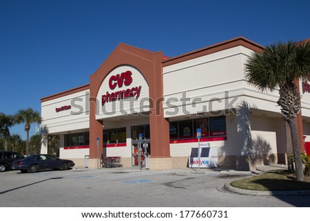 JACKSONVILLE FL-FEBRUARY 17 2014 A CVS Pharmacy in Jacksonville CVS Pharmacy is the largest pharmacy chain in the United States with more than 7 600 stores