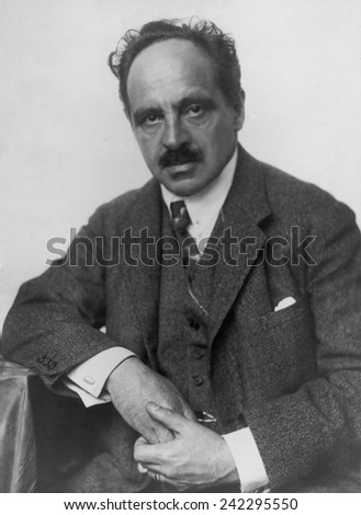 Jacob Wasserman (1873-1934), German author best known for his novel THE MAURIZIUS CASE (1928), a detective novel that explores the meaning of justice. 1927 portrait by Trude Geirin.