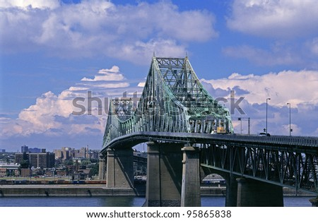 Jacques Cartier Bridge in Montreal, Quebec