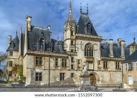 Jacques Coeur palace is a mansion located in Bourges, France a masterpiece of civil architecture flamboyant Gothic style Photo stock ©