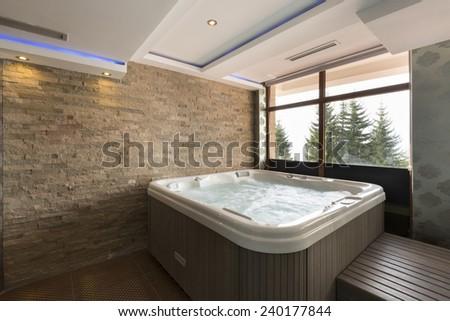 Jacuzzi bath in hotel spa center  Foto d'archivio ©