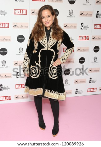 Jade Jagger arriving at the The Amy Winehouse foundation ball held at the Dorchester hotel, London. 20/11/2012 Picture by: Henry Harris