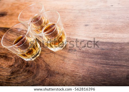 jager bombs on a wood table