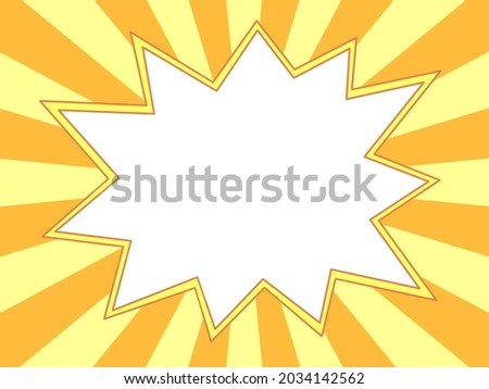 Jagged frame against orange and yellow radiation background-speech balloons Stock foto ©