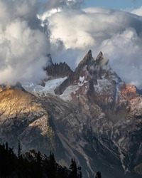 Jagged Mountains Cloud Scape North Cascades