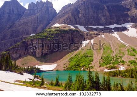Jagged Peaks near Iceberg Lake in Glacier National Park
