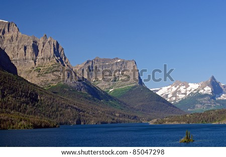 Jagged Peaks of the St Mary Valley In Glacier National Park