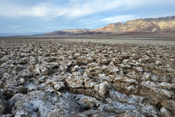 Jagged salt formations at the Devil's Golf Course, Death Valley, California