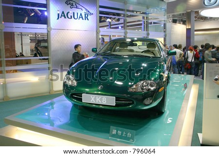 Jaguar concept car on the Taipei 2004 motor show