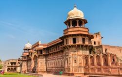 Jahangir Palace at Agra Fort. UNESCO world heritage site in Uttar Pradesh, India