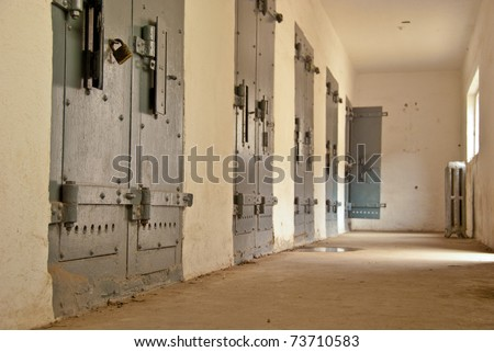 Jail cells at the Old Boise Penitentiary in Boise, Idaho