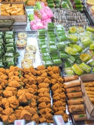 Jajanan pasar is various and colorful traditional Indonesian snacks. The taste could be delicious, sweet or spicy.
