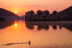 Jal Mahal at sunset