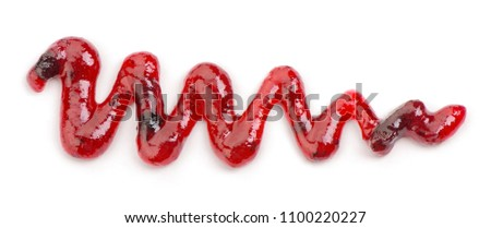 jam drizzle isolated on white background