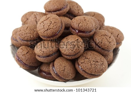 jam filled cookies - stock photo