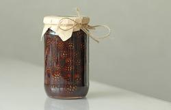 Jam in a Glass Jar of Pine Cones.