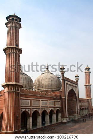 Jama Masjid mosque, the largest mosque in New Delhi, India