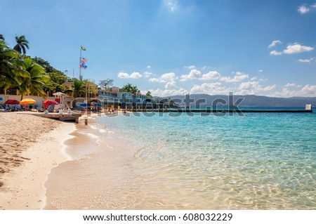 Jamaica beach near Montego Bay. #608032229