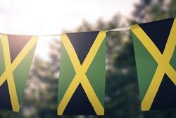 Jamaica flag pennants