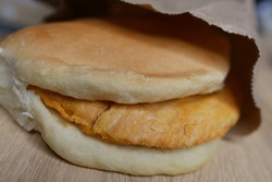 Jamaican Lunch, Patty and Coco Bread