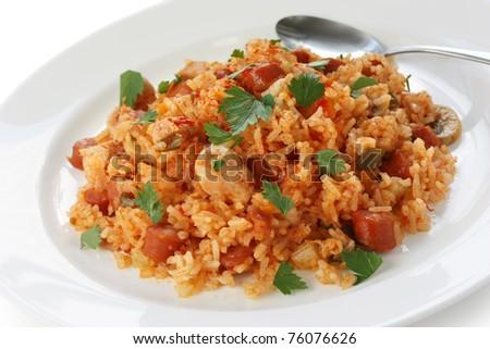 jambalaya , creole rice dish