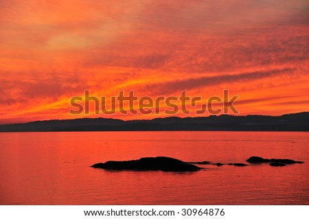 James bay in twilight, victoria, british columbia, canada