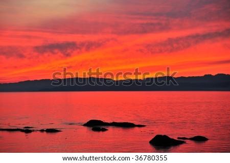 James bay in twilight, victoria, british columbia, canada