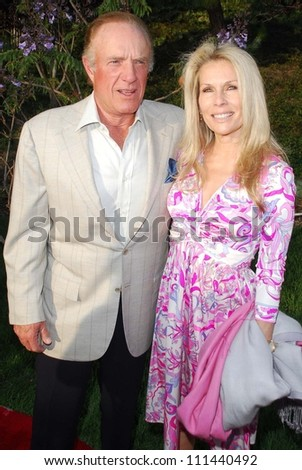James Caan and guest at The Sixth Annual Chrysalis Butterfly Ball. The Home of Susan Harris and Hayward Kaiser, Mandeville Canyon, CA. 06-02-07