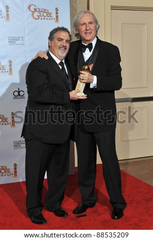 James Cameron & Jon Landau (left) at the 67th Golden Globe Awards at the Beverly Hilton Hotel. January 17, 2010  Beverly Hills, CA Picture: Paul Smith / Featureflash