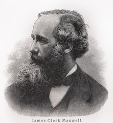 James Clerk Maxwell - Picture from Meyers Lexicon books written in German language. Collection of 21 volumes published between 1905 and 1909.