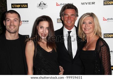 James Driskill, Chloe Lattanzi, John Easterling and Olivia Newton John at the G'Day USA Australia Week 2011 Black Tie Gala, Hollywood Palladium, Hollywood, CA. 01-22-1