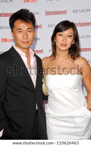 James Kyson Lee and friend  at Entertainment Weekly's 5th Annual Pre-Emmy Party. Opera and Crimson, Hollywood, CA. 09-15-07