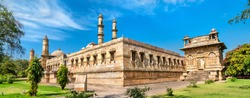 Jami Masjid, a major tourist attraction at Champaner-Pavagadh Archaeological Park - Gujarat state of India