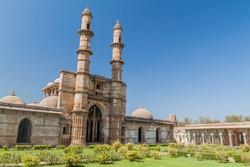 Jami Masjid mosque in Champaner historical city, Gujarat state, India