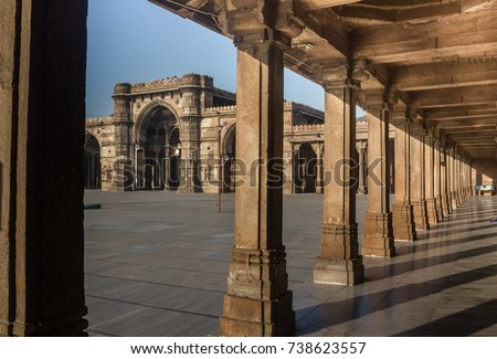 Jami Mosque a heritage monument located in Ahmedabad city of India, recently declared World Heritage city by UNESCO.