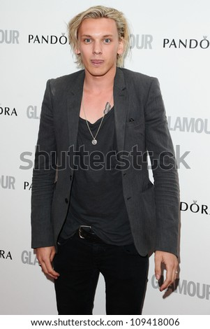 Jamie Campbell Bower arriving for the Glamour Women Of The Year Awards 2012, at Berkeley Square, London. 29/05/2012 Picture by: Steve Vas / Featureflash