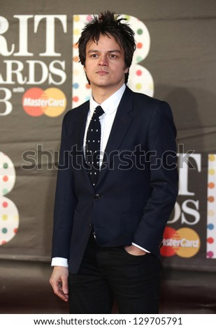 Jamie Cullum arriving for the Brit Awards 2013 at the O2 Arena, Greenwich, London. 20/02/2013 Picture by: Henry Harris