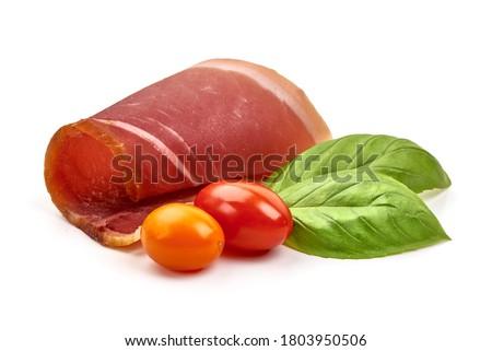 Jamon, jerked meat, isolated on white background. Stock photo ©