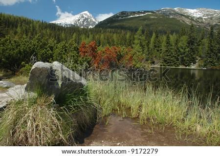 Jamske pleso in High Tatras in Slovakia.