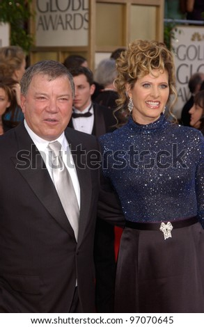 Jan 16, 2005; Beverly Hills, CA: Actor WILLIAM SHATNER & wife at the 62nd Annual Golden Globe Awards at the Beverly Hilton Hotel.