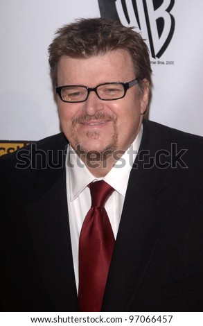 Jan 10, 2005; Los Angeles, CA:  Documentary filmmaker MICHAEL MOORE at the 10th Annual Critcs' Choice Awards at the Wiltern Theatre, Los Angeles.