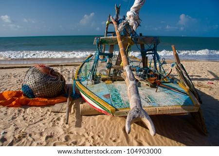 Jangada. Brazilian fishing boat.