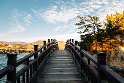 Jangho Port sea and bridge in Samcheok, Korea