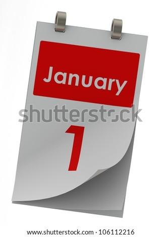 January 1 - stock photo